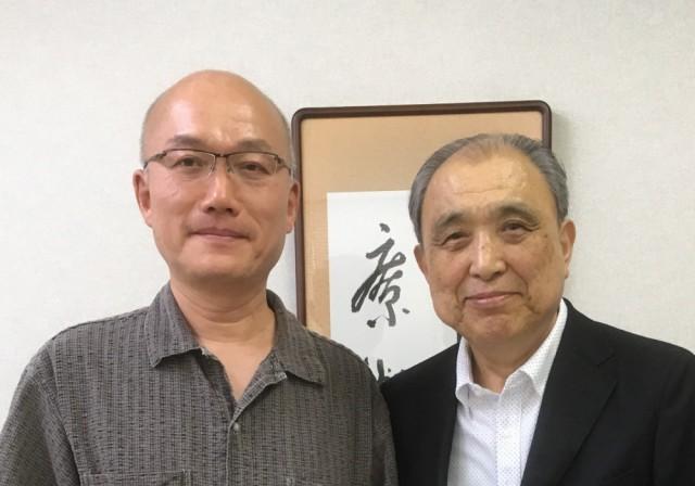 直江敏男先生と (2017/6)